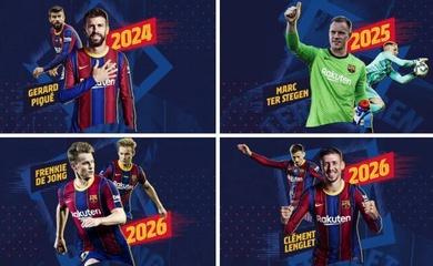 Barca gia hạn hợp đồng với 4 ngôi sao cùng mức lương mới