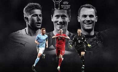 Messi và Ronaldo lần đầu vắng mặt ở giải thưởng UEFA sau một thập kỷ
