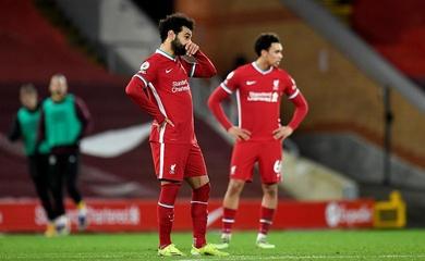 Kỷ lục của Liverpool ở Anfield bị xóa sổ sau thất bại gây sốc