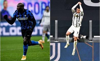 Inter vs Juve: Lukaku đối đầu Ronaldo với thống kê hoành tráng