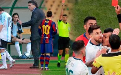3 thẻ đỏ hiếm hoi của Messi trong sự nghiệp