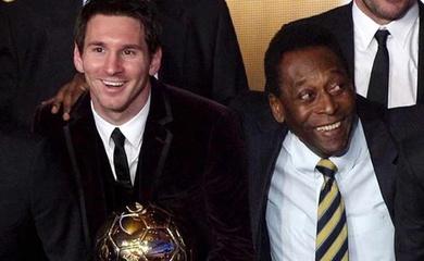 Messi cách kỷ lục của Pele chỉ bằng một cú đúp