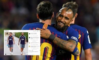 Messi và Luis Suarez chia tay đầy cảm động với đồng đội thân thiết