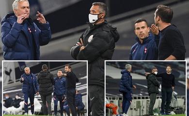 """Mourinho và Lampard nói gì với nhau sau màn """"đụng độ"""" trên sân?"""