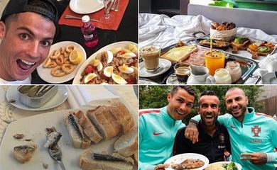 Cristiano Ronaldo tự phạt chống đẩy sau khi bỏ... ăn kiêng