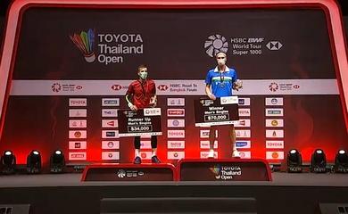 Lịch thi đấu cầu lông Toyota Thailand Open 2020