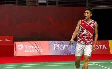 Kết quả cầu lông Thái Lan mở rộng hôm nay: Chou Tien-chen ngược dòng thanh thản, Anders Antonsen thua sốc