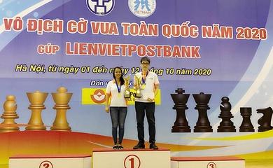 Kết thúc giải cờ vua VĐQG: Hai nhà tân vô địch