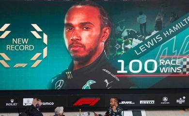 Nhờ đối thủ ngờ nghệch, Hamilton lập kỷ lục F1 mới tại Nga: 100 lần vô địch Grand Prix