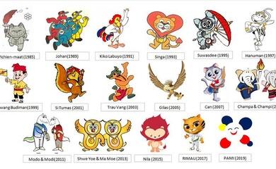 Những câu chuyện kỳ lạ và cách chọn linh vật của các nước chủ nhà SEA Games