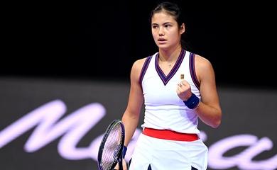 Kết quả tennis mới nhất 27/10: Hóa ra là ngoài Grand Slam, Raducanu toàn thua ở WTA Tour