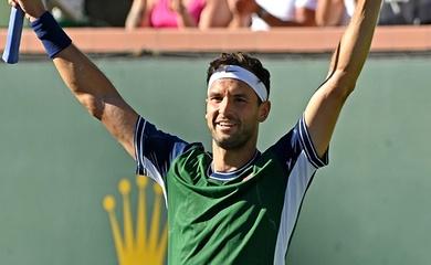 Kết quả tennis mới nhất ngày 15/10: Trùm sát gái Grigor Dimitrov tung hoành ở Indian Wells