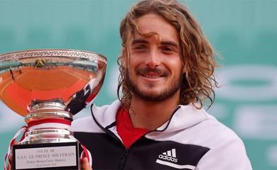 """Kết quả tennis chung kết Monte-Carlo Rolex Masters ngày 18/4: Vua mới là """"Thần Hy Lạp"""" Stefanos Tsitsipas!"""