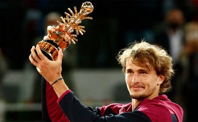 """Kết quả tennis Madrid Open mới nhất: Phá vỡ """"lời nguyền"""", Zverev vô địch!"""