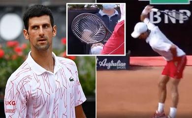 Xem ngay cảnh Djokovic phát rồ ở Italian Open, may là lần này không bị đuổi