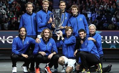 Kết quả tennis Laver Cup mới nhất:Châu Âu thắng sớm
