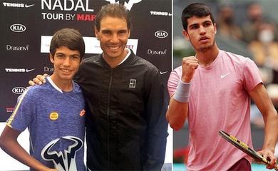 """Carlos Alcaraz vs Rafael Nadal: Quà sinh nhật tuổi 18 dễ """"đè chết"""" tân kỷ lục gia tennis Madrid Open!"""