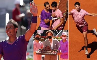 Kết quả tennis Madrid Open mới nhất: Alcaraz thể hiện được tiềm năng, nhưng Nadal đơn giản quá mạnh!
