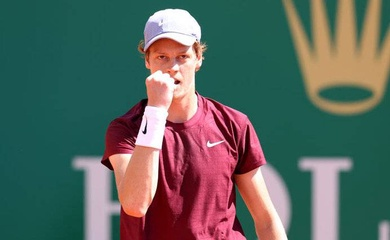 Kết quả tennis Monte-Carlo Rolex Masters ngày 13/4:  Sinner giành quyền đấu với Djokovic