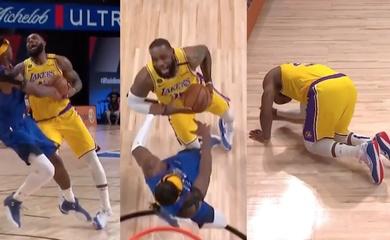 Xem ngay: LeBron James vừa lật cổ chân đã úp rổ uy lực, khoe thể chất siêu phàm