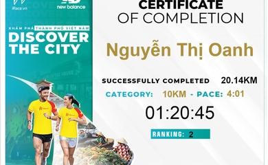 Chạy Để Khám Phá Thành Phố Tôi Yêu với kỷ lục gia SEA Games Nguyễn Thị Oanh