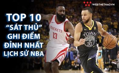 """Top 10 sát thủ ghi điểm của mọi thời đại tại NBA và """"vũ khí"""" của họ - Phần 1"""