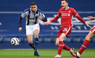 Cả đội hình Liverpool chịu thua Matheus Pereira của West Brom