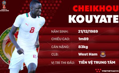 Thông tin cầu thủ Cheikhou Kouyate của ĐT Senegal dự World Cup 2018