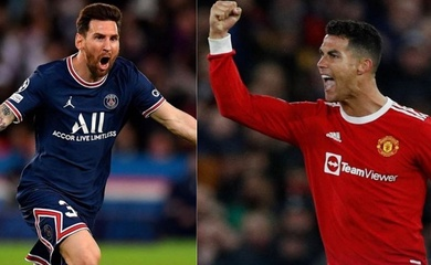 Ronaldo cân bằng Messi về số bàn thắng không có phạt đền