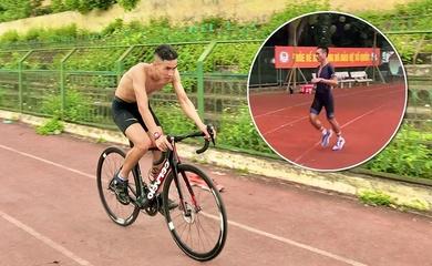 Đạp xe trên sân chạy chuẩn bị kiếm suất duathlon dự SEA Games 31