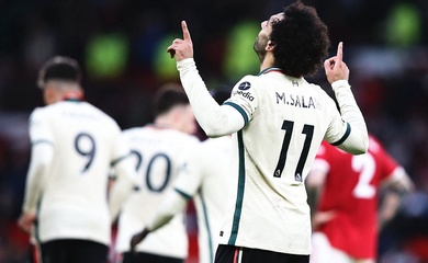 Salah sánh ngang thành tích ghi bàn liên tiếp của Ronaldo