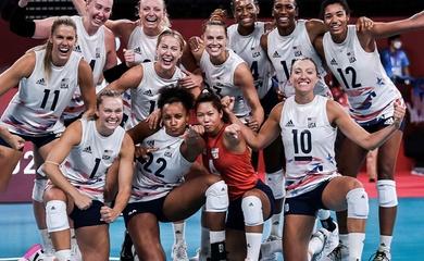 Bóng chuyền nữ Mỹ nhẹ nhàng vượt qua CH Dominica, chờ đối thủ ở bán kết