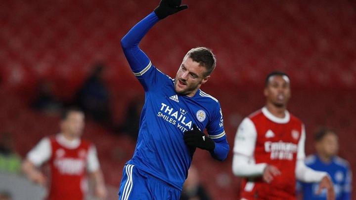 Vardy gây choáng với số bàn thắng vào lưới Arsenal
