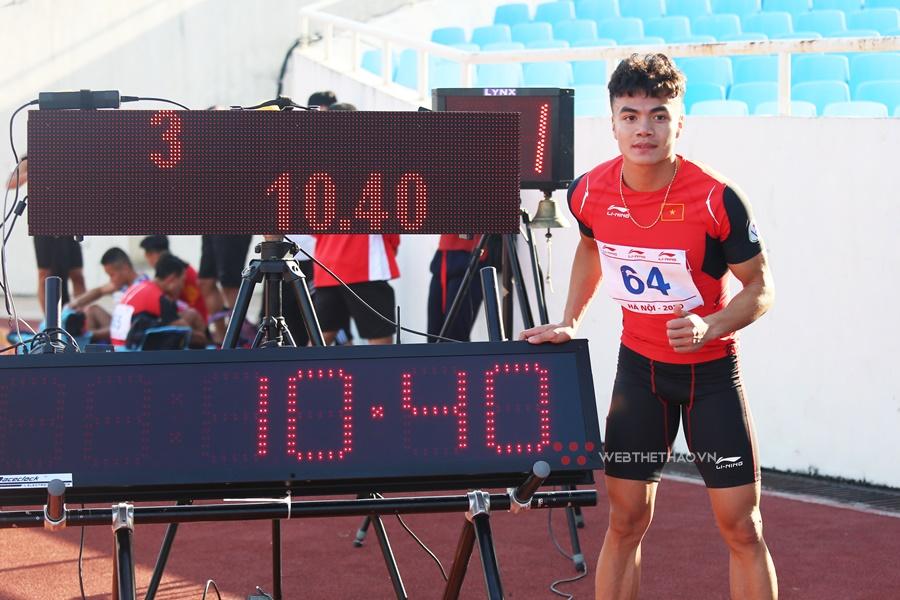 Chàng trai người dân tộc Thái trắng phá kỷ lục quốc gia chạy 100m