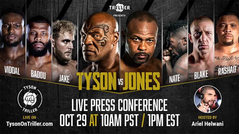 Lịch thi đấu trận Mike Tyson vs Roy Jones Jr: Thời gian, thông tin chi tiết?