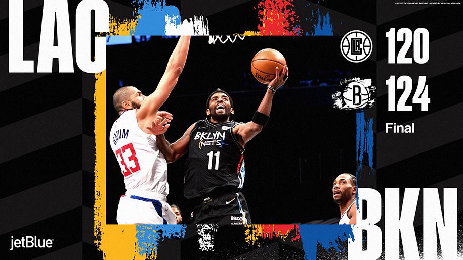 Hết Durant rồi đến Harden và Kyrie bùng nổ, Brooklyn Nets hạ gục LA Clippers