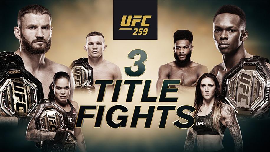 Bom tấn UFC 259 công bố lịch thi đấu: 3 trận tranh đai, 4 nhà vô địch