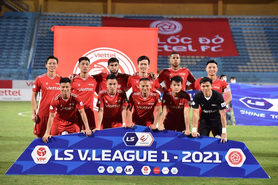 Bảng xếp hạng V.League 2021 sau vòng 10 mới nhất