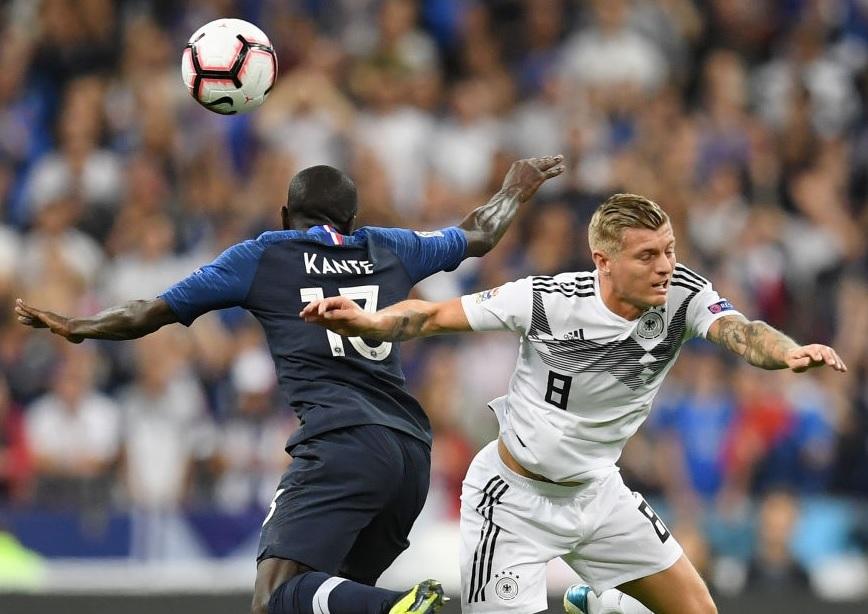 Đội hình dự kiến Pháp vs Đức: Kante đối đầu Kroos