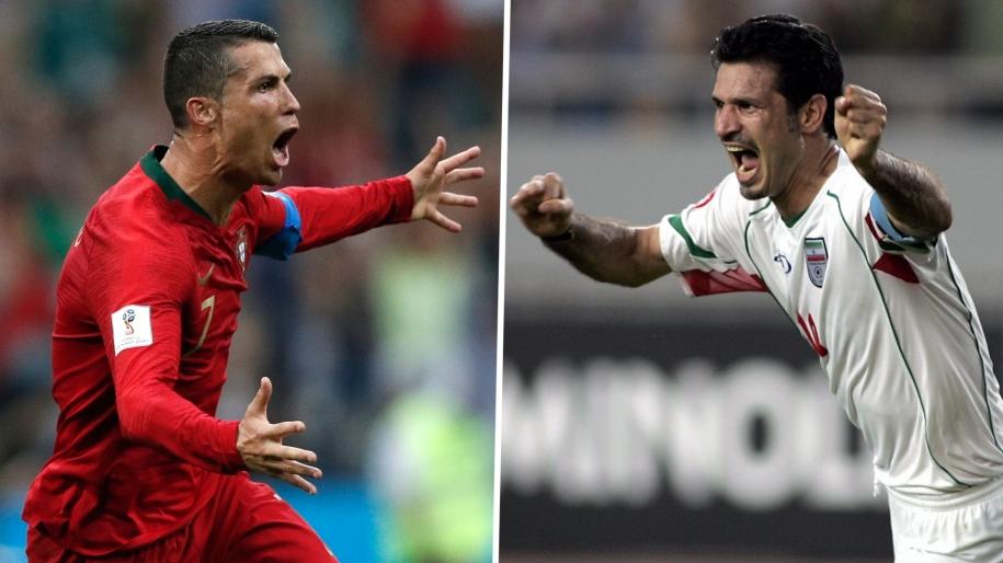 Ali Daei chúc mừng Cristiano Ronaldo sau khi kỷ lục bị xô đổ