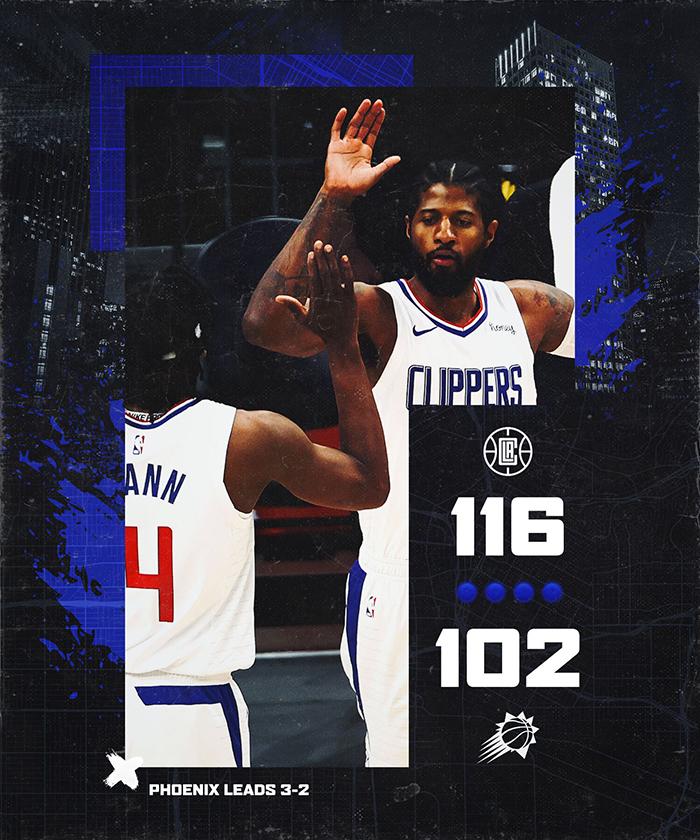 """Paul George bật chế độ """"Playoffs P"""", xuất sắc giành lại 1 chiến thắng cho LA Clippers-bài baccarat là gì-kinh nghiệm đánh baccarat-rich888"""