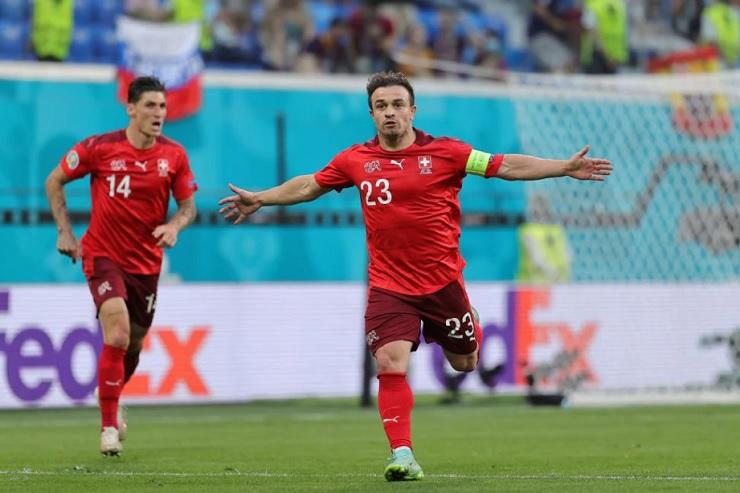 Shaqiri trở thành vua ghi bàn của Thụy Sĩ tại EURO
