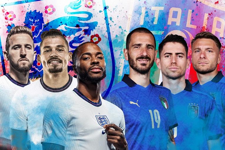 Trực tiếp bóng đá Anh vs Ý, chung kết EURO 2021