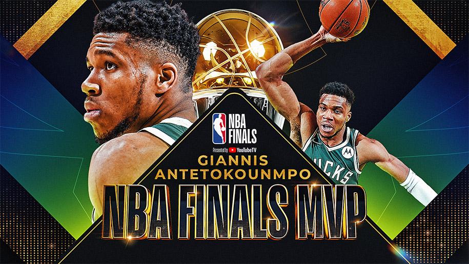 Giannis Antetokounmpo trở thành Finals MVP 2021: Phần thưởng xứng đáng!