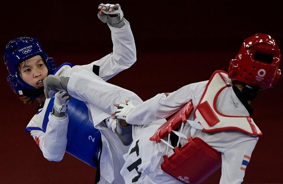 Trực tiếp Taekwondo Olympic 2021: Kim Tuyền dừng bước trước Thái Lan, vào nhóm tranh HCĐ