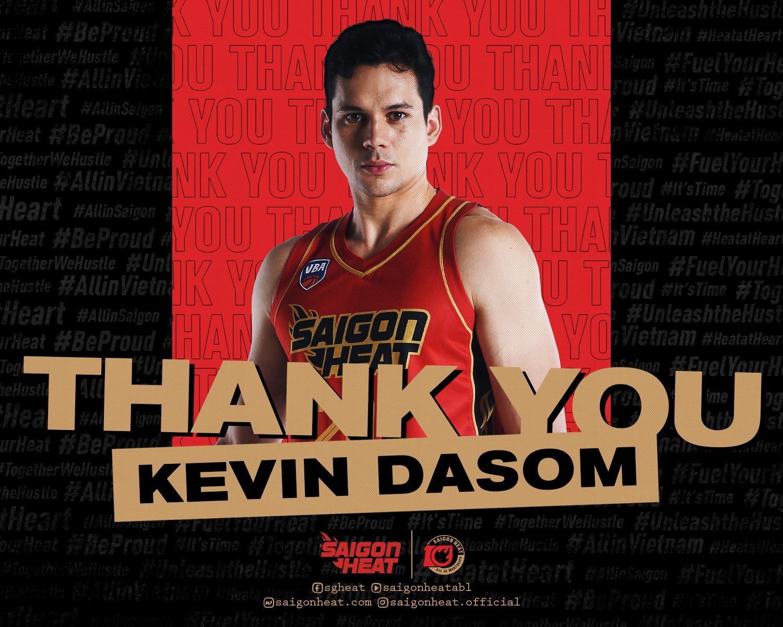 Saigon Heat sẽ chia tay Kevin Dasom để chào đón ngoại binh mới