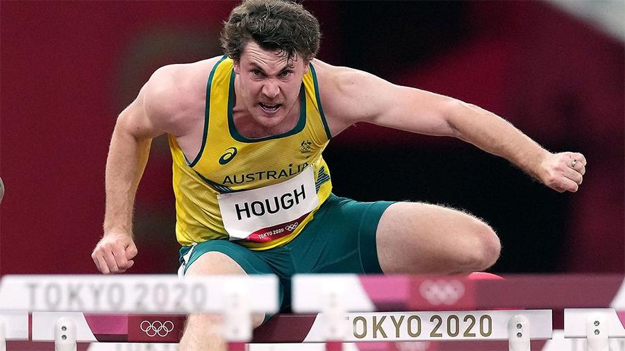 Hài hước VĐV Australia chạm tất cả rào trong phần thi 110m vượt rào nam Olympic