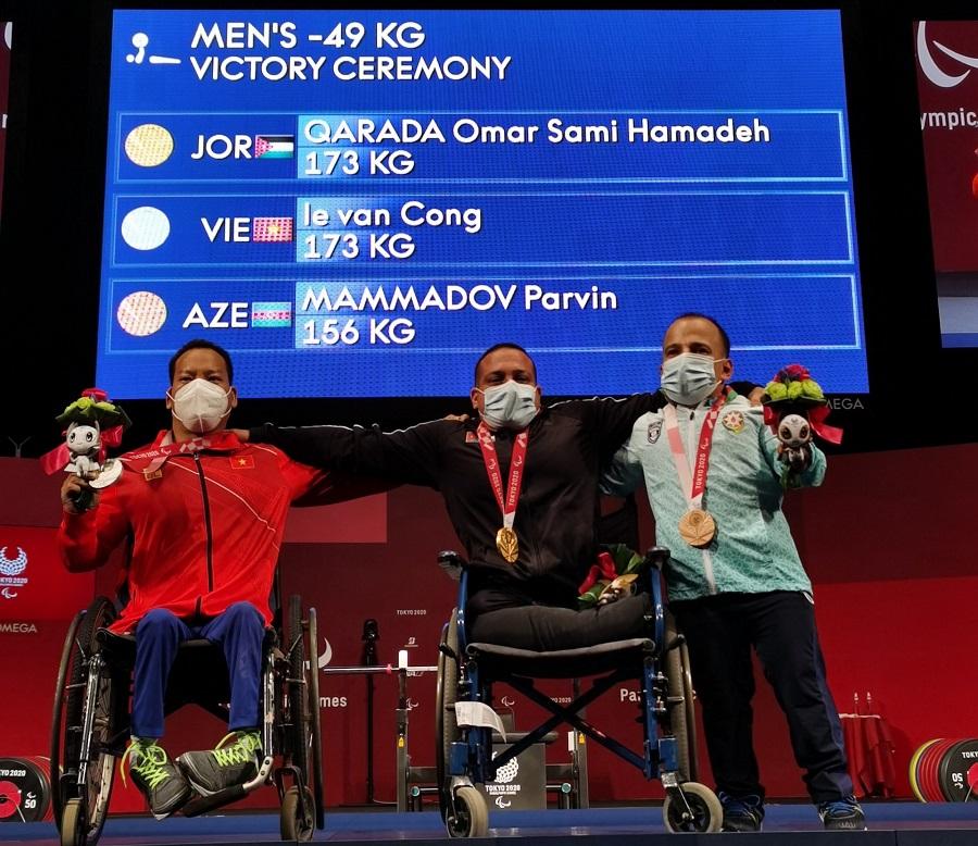Lực sĩ Lê Văn Công giành HCB Paralympic 2020