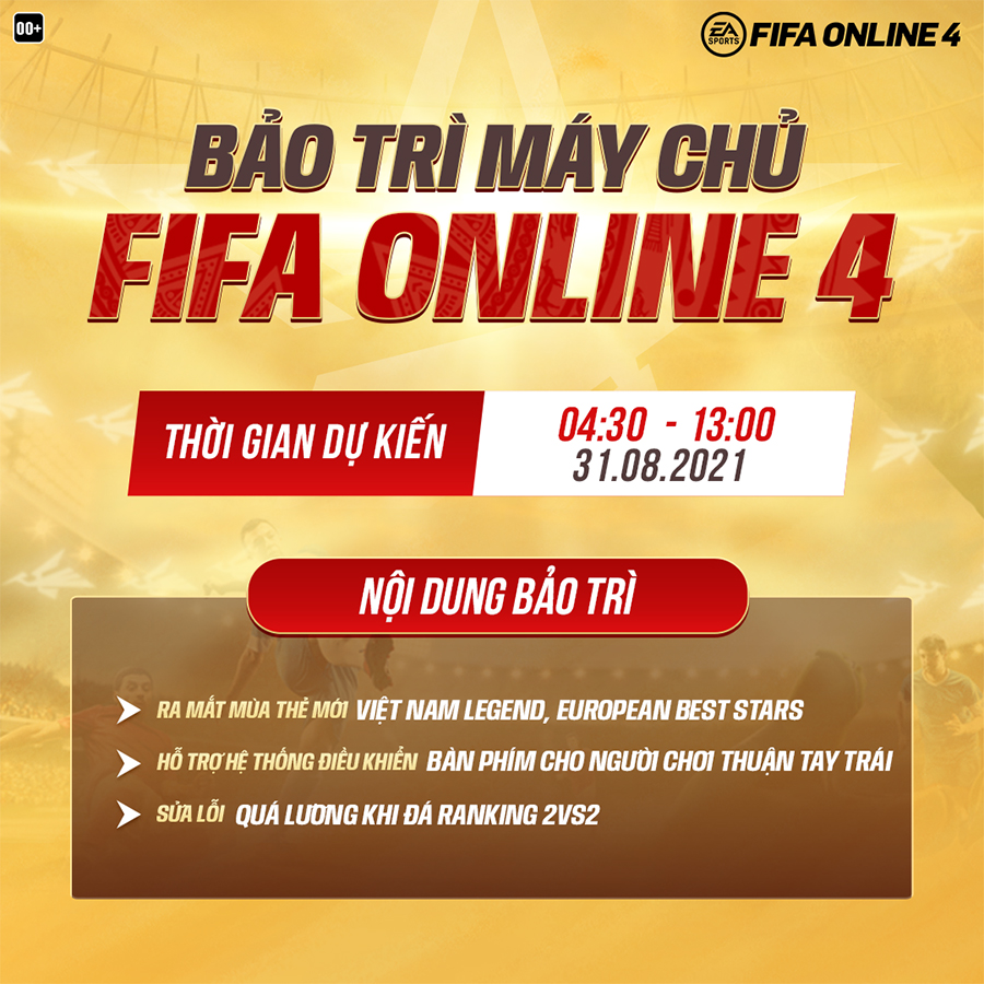 FIFA Online 4 bảo trì FO4 hôm nay đến mấy giờ?-kỹ thuật canh bài baccarat-baccarat trực tuyến là gì-rich888