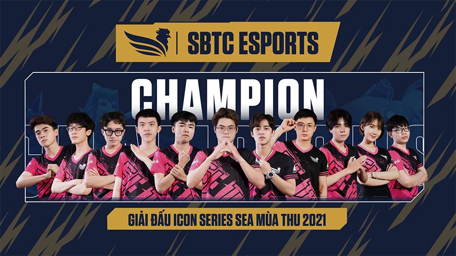 SBTC Esports vô địch ICON Series SEA Mùa Thu 2021